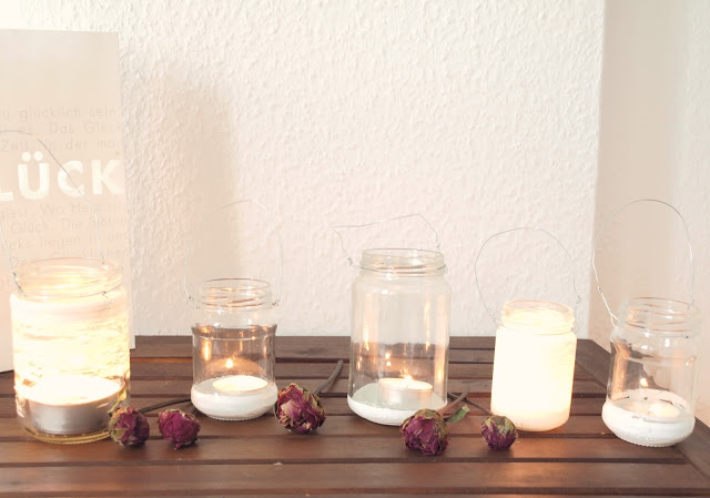 DIY upcycling Windlichter