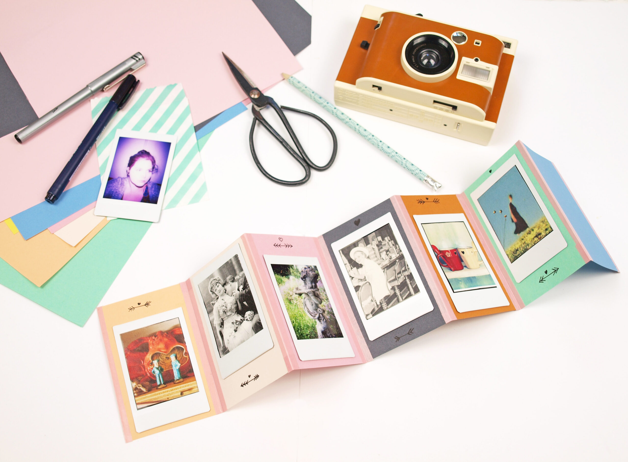 geschenkidee diy foto leporello und lomo 39 instant kamera. Black Bedroom Furniture Sets. Home Design Ideas